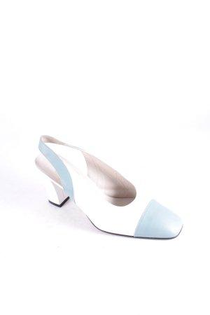 Elégance Paris Slingback-Pumps weiß-mint klassischer Stil