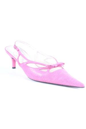 Elégance Paris Spitz-Pumps pink Animalmuster Animal-Look