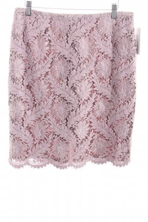 Elégance Paris Lace Skirt dusky pink flower pattern casual look