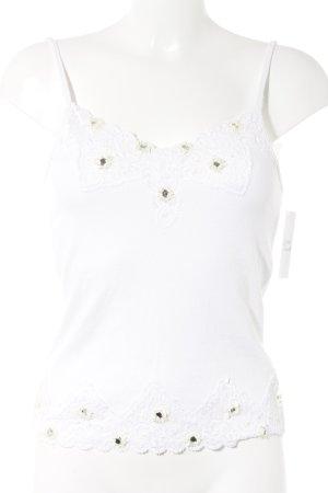 Elégance Paris Spitzentop weiß-creme Elegant