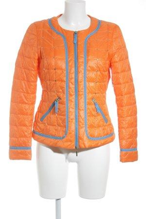 Elégance Paris Steppjacke orange-blau Casual-Look