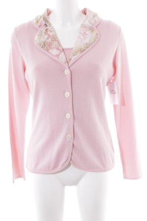Elégance Paris Strick Twin Set rosa florales Muster klassischer Stil