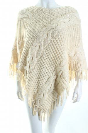 Elégance Paris Strickponcho creme Country-Look