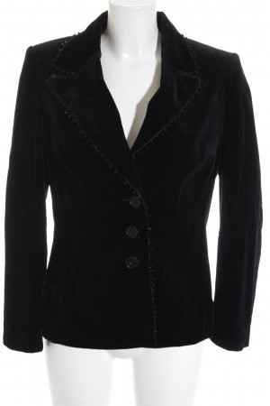 Elégance Paris Sweatblazer schwarz Casual-Look