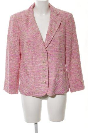 Elégance Paris Tweedblazer pink-blassgelb meliert Business-Look