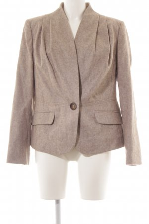 Elégance Paris Woll-Blazer beige meliert Business-Look