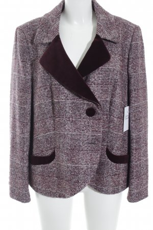 Elégance Paris Wool Blazer dark red-pink elegant