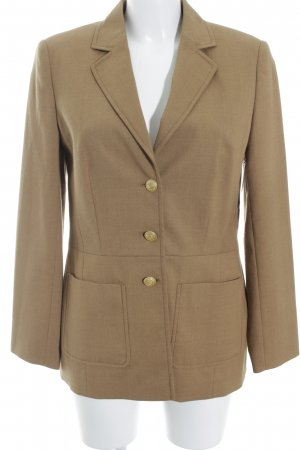 Elégance Paris Blazer de lana marrón arena estilo «business»