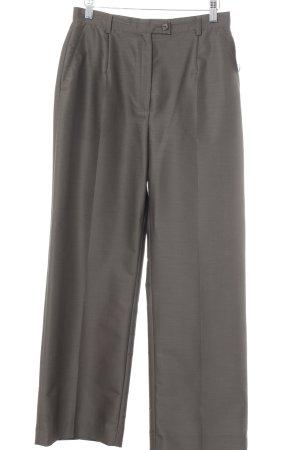 Elegance Prestige Pantalon à pinces gris foncé style classique