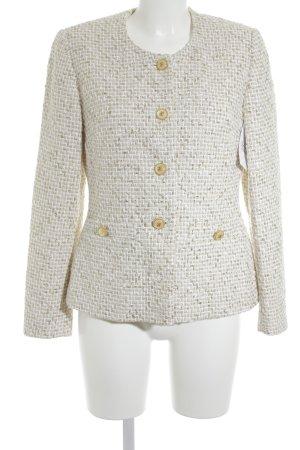 Elegance Prestige Blazer en maille tricotée blanc cassé-doré