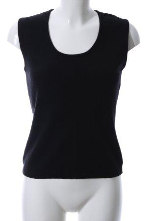 Elegance Prestige Knitted Top black casual look