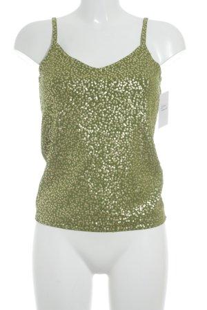 Elegance Prestige Trägertop goldfarben-grün Casual-Look