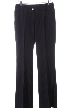 Elegance Prestige Wollhose schwarz Streifenmuster schlichter Stil