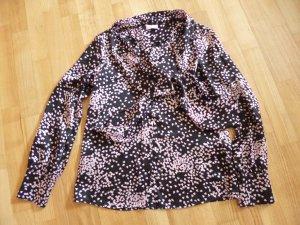 Elégance Silk Blouse black-pink silk