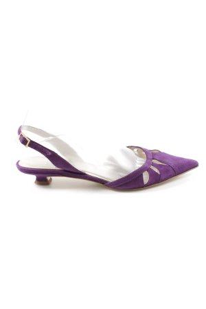 Elégance Ballerine à bride arrière violet élégant