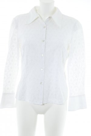 Elégance Stand-Up Collar Blouse white elegant