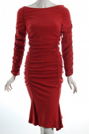 Elegance Stretchkleid hellrot Casual-Look