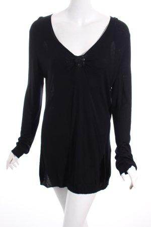 Elegance Strickpullover schwarz minimalistischer Stil