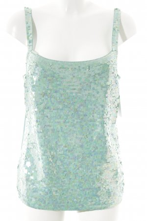Elégance Knitted Top mint wet-look
