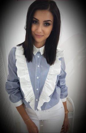 Shirt Blouse white-blue