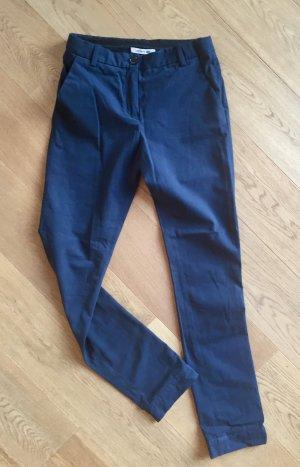 Elegant Lässige marineblaue Stoffhose
