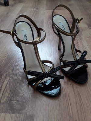 Prada High Heel Sandal black-gold-colored