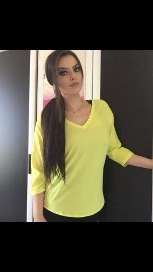 elegant sportliche bluse in limettengrün