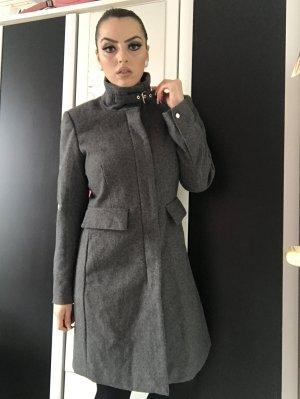elegant sportlicher mantel in grau