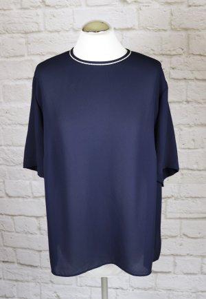 Frankenwälder Blusa de túnica color oro-azul oscuro Poliéster