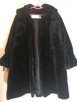 Manteau d'hiver noir coton