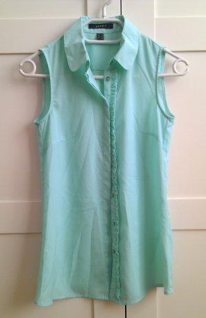 Elegante ärmellose Bluse in Aqua