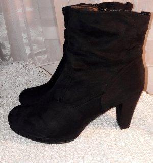 Elegante Ankle Boots Stiefeletten in schwarz