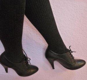 Elegante Ankle Schnür-Stiefelette mit Stilettoabsatz Gr. 39