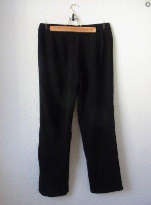 Vintage Pantalone a vita alta nero Tessuto misto