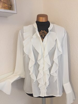 Orsay Blouse à volants blanc polyester