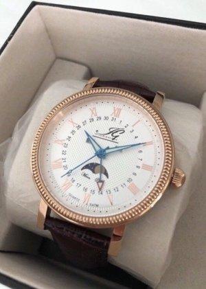 Elegante Armband Uhr, rosévergoldet