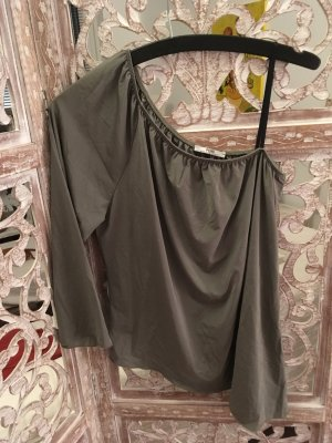 Elegante Asymmetrische One Schulder Bluse - Pois