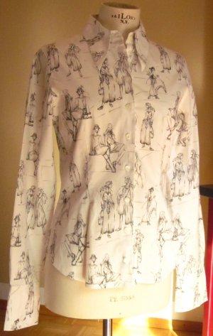 Anne Fontaine Blouse à manches longues blanc tissu mixte