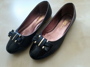 Ballerinas black-gold-colored