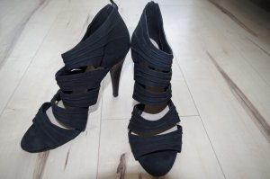elegante Belmondo Highheels, Ankle Sandalette, schwarz mit Riemchen