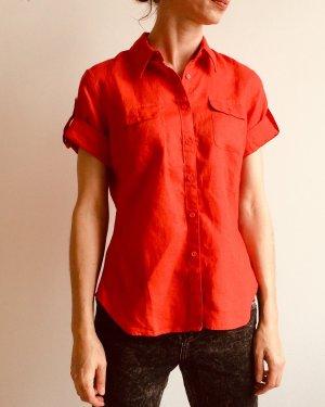 Elegante, bequeme Bluse in schönem Rot von Tommy Hilfiger