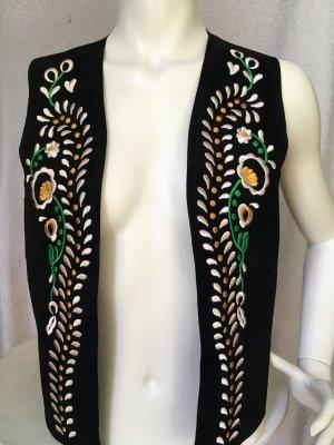 Zara Woman Chaleco de cuero multicolor