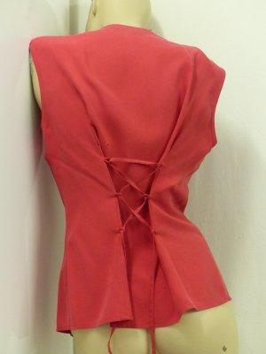 elegante Bluse, 100% Seide, Schnürung, Gr. 38(40/42)