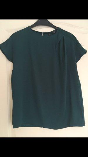 Elegante Bluse dunkelgrün