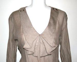 Elegante Bluse in Beige mit Rüschen/Schleifen von Zara NEU