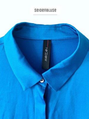 Elegante Bluse in blau aus Seide Azure leichte / Marc Cain
