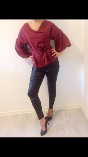 Elegante Bluse in Bordeaux