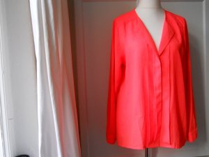 Elegante Bluse in Neon-Koralle Gr. 46/48