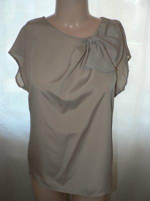 Elegante Bluse mit Drapierung beige