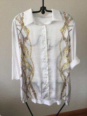 Elegante Bluse mit klassischem Kettenmotiv Gr 42 Alba Moda